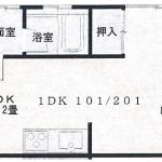 メゾンS&S   1DK ・101号室